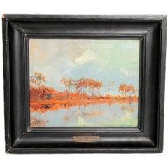 """""""Landscape Along A River"""" by Léon Zeytline"""