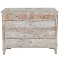 18th Century Swedish Gustavian Period Commode in Original Paint
