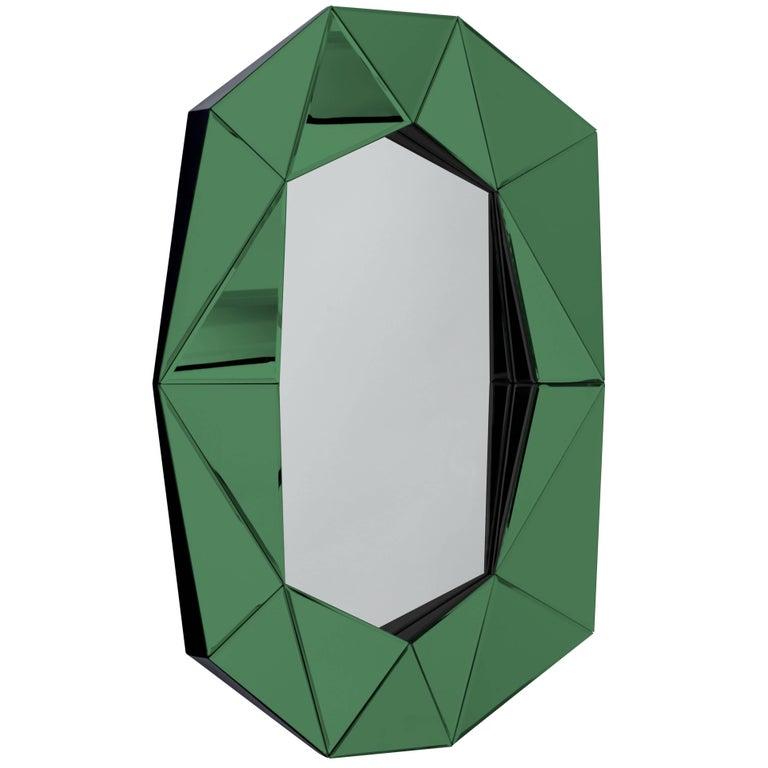 Emerald Diamond Decorative Mirror