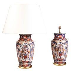 Pair of 19th Century Imari Vases as Lamps