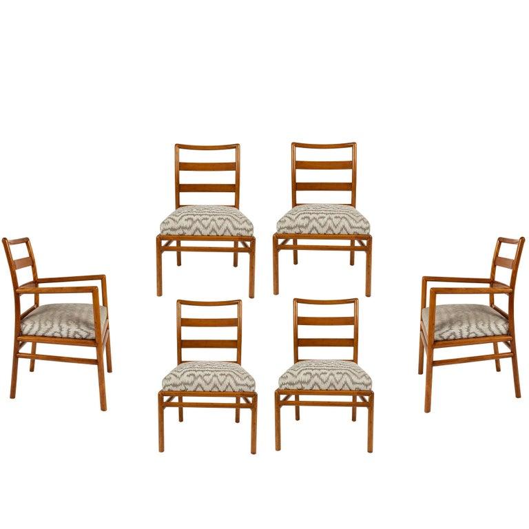 Set of Six Dining Chairs by T. H. Robsjohn-Gibbings