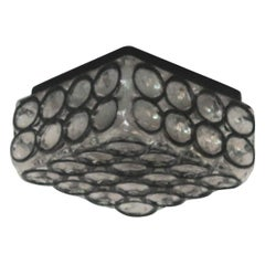 Limburg Iron and Glass Square Flush Mount