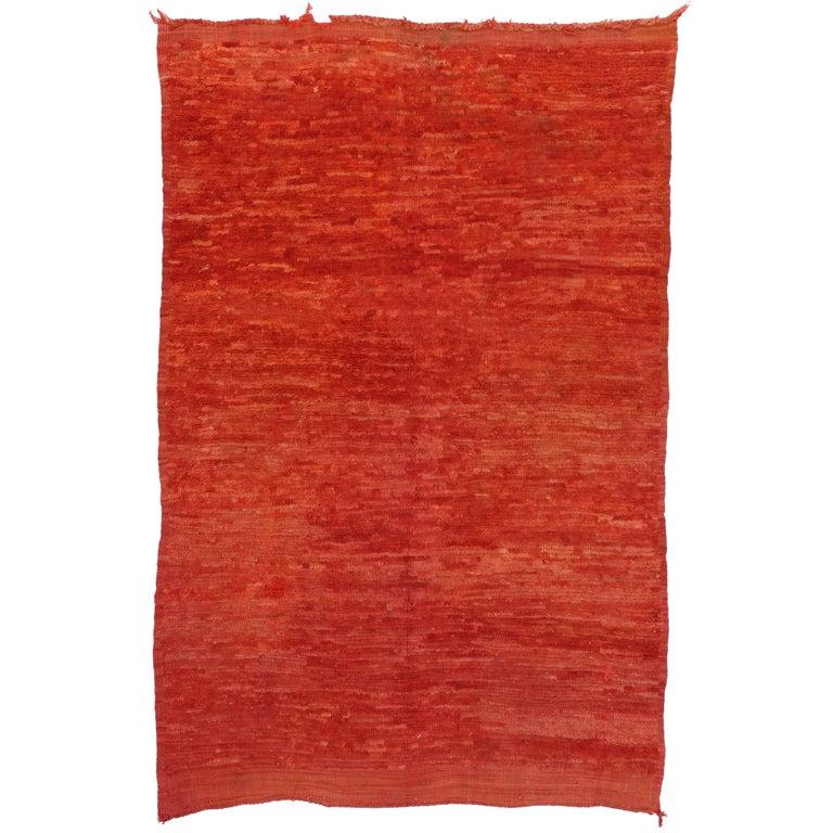 Vintage Berber Red Moroccan Rug