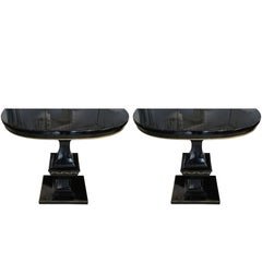 Whimsical Pair of Hollywood Regency Consoles
