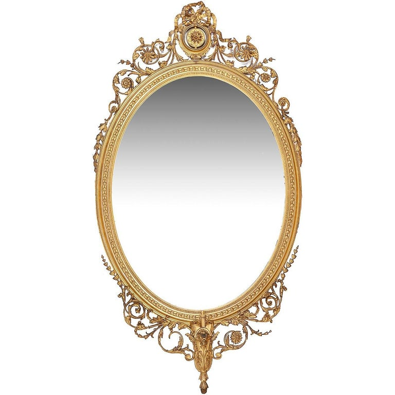 Large 19th Century Gilded Pier Glass Mirror