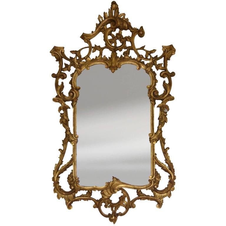 Mid-20th Century Italian Giltwood Mirror