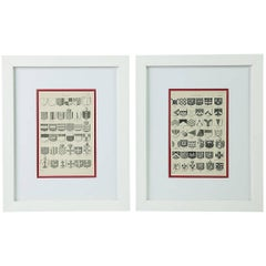 19th Century Heraldic Prints, Set of Two