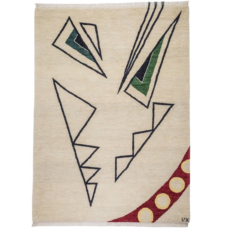"""""""Angry"""" Hand-Knotted Wool Rug by Carpets CC"""