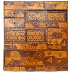 Handcrafted Japanese Marquetry Cabinet