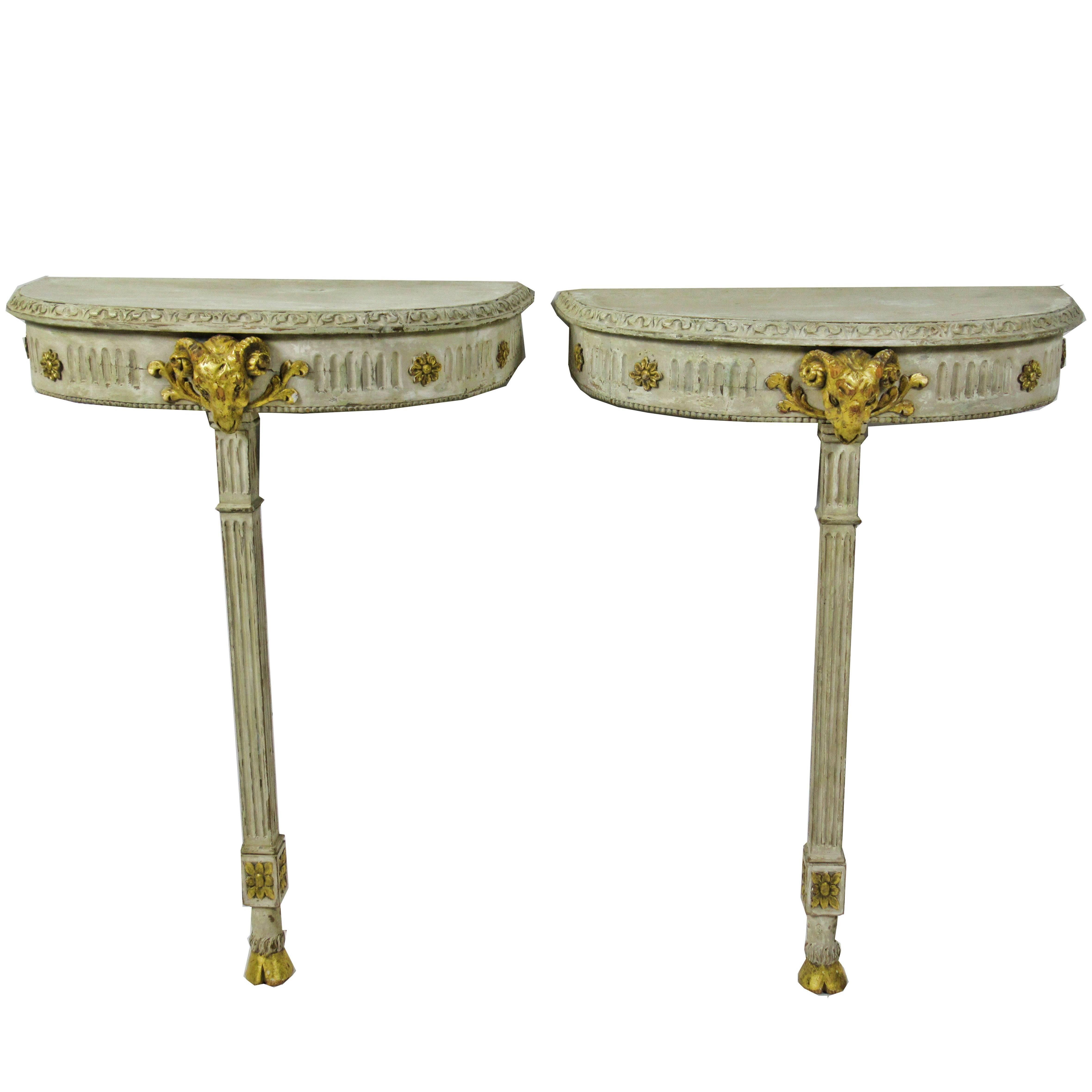 Neoclassical Demi Lune Tables