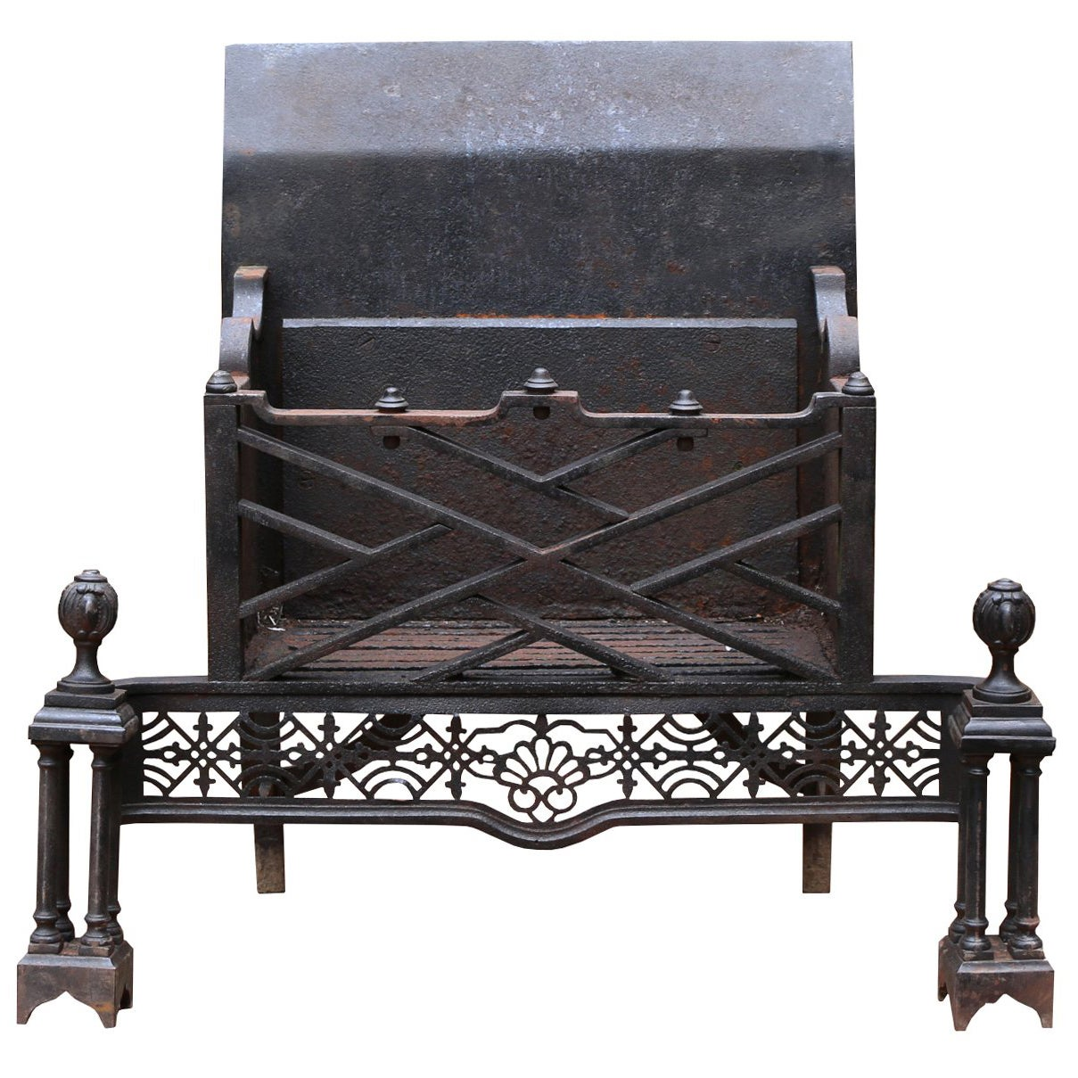 Early 19th Century English Steel Fire Grate