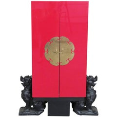 Stunning Asian Inspired Modern Cabinet