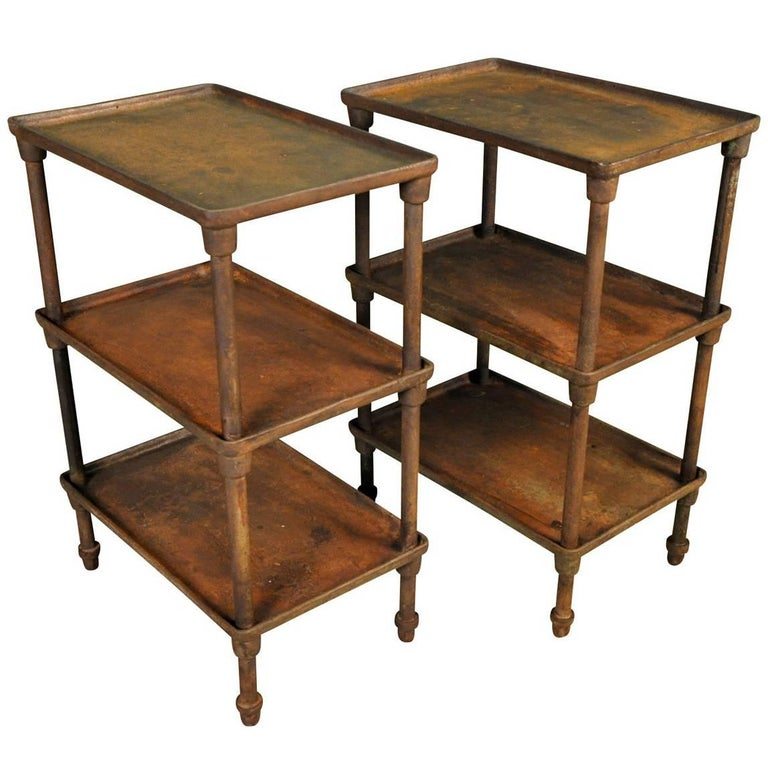 Pair of Spanish Industrial Side Tables