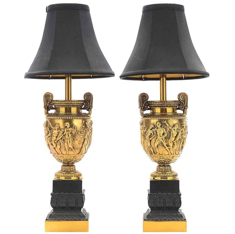 Pair of Torchiere Stiffel Lamps