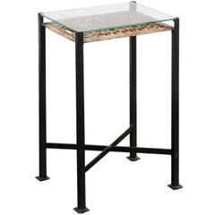 Drink Table Made of 1920s French Decorative Fretwork Iron Panel on Custom Base