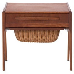 Danish Modern Sewing Table or Nightstand