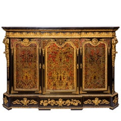 Napoleon III Boulle Commode with Tortoiseshell Marquetry and Ormolu Detailing