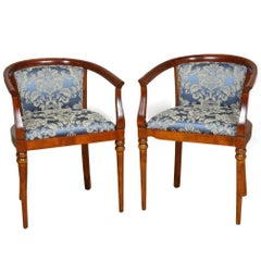 Pair of Empire Cherry Accent Chairs, circa 1810