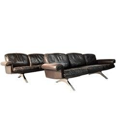 Vintage De Sede DS 31 Three-Seat Sofas, 1970s