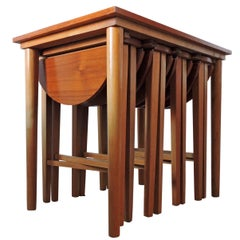 Lane Side Table with Four Folding Side Tables, 1960