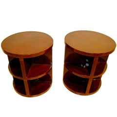 Art Deco Side Tables, Mahogany, France circa 1930