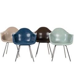 Set of Four Eames DAX Herman Miller Chairs