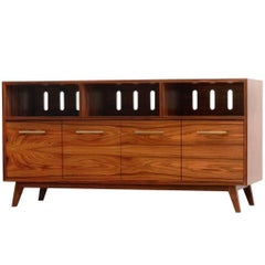 Credenza Record Cabinet for Vinyl LPs and Audio/Visual Storage