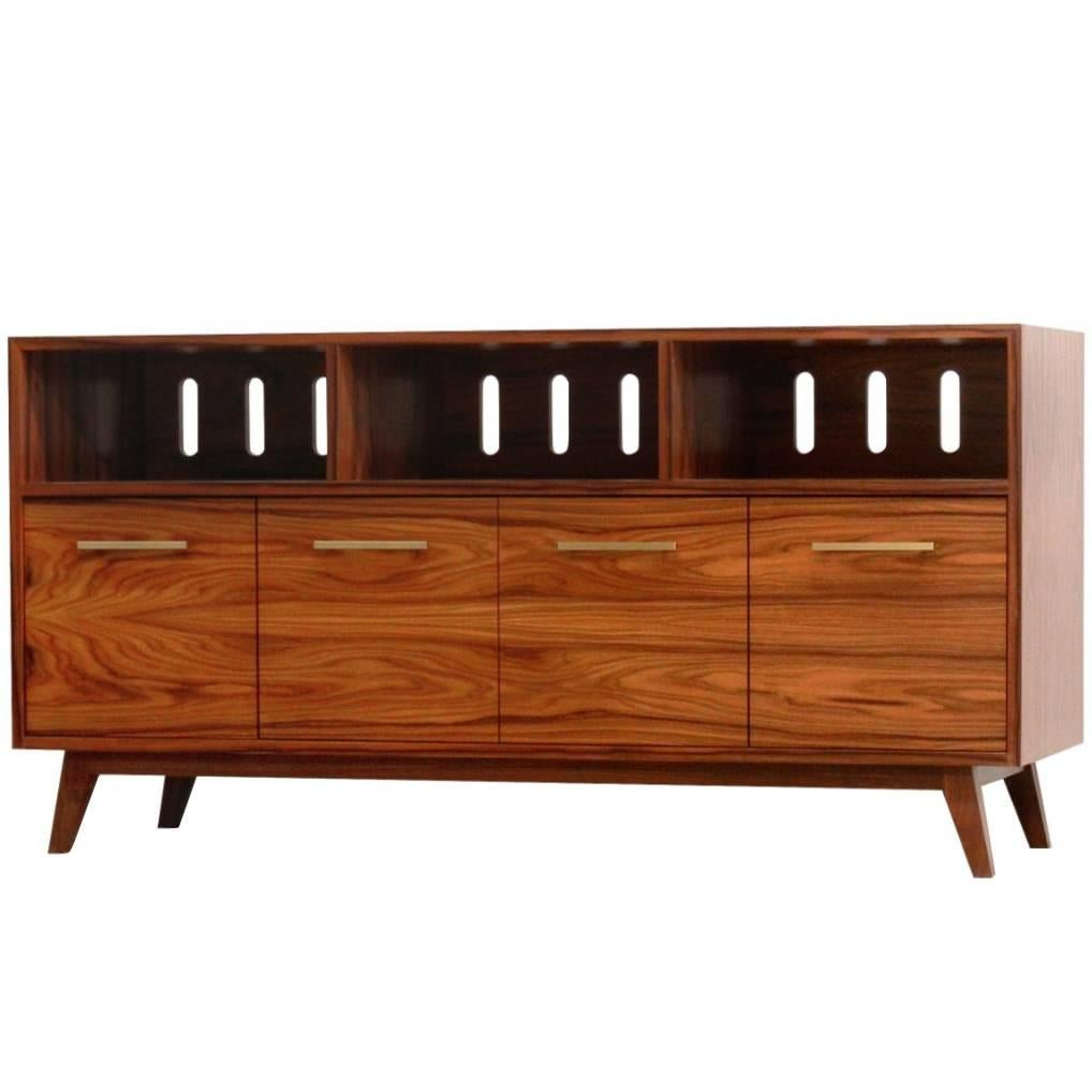 Credenza Record Cabinet For Vinyl LPs And Audio/Visual Storage For Sale