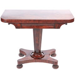 Quality Victorian Mahogany Card Table