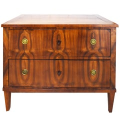 19th Century Small Biedermeier Walnut Commode