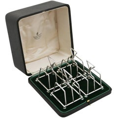 Antique Sterling Silver Set of Four Toast Racks, 1936