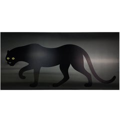 Enzo Mari Panther Poster on Black Plastic