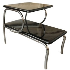 Wolfgang Hoffmann Style Art Deco Chrome & Micarta Side Table **Saturday Sale**