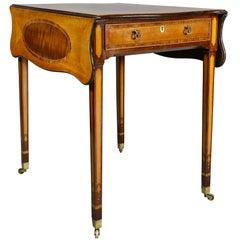 Fine George III Satinwood and Mahogany Pembroke Table