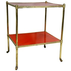 Brass and Lacquer Two-Tier Etagere