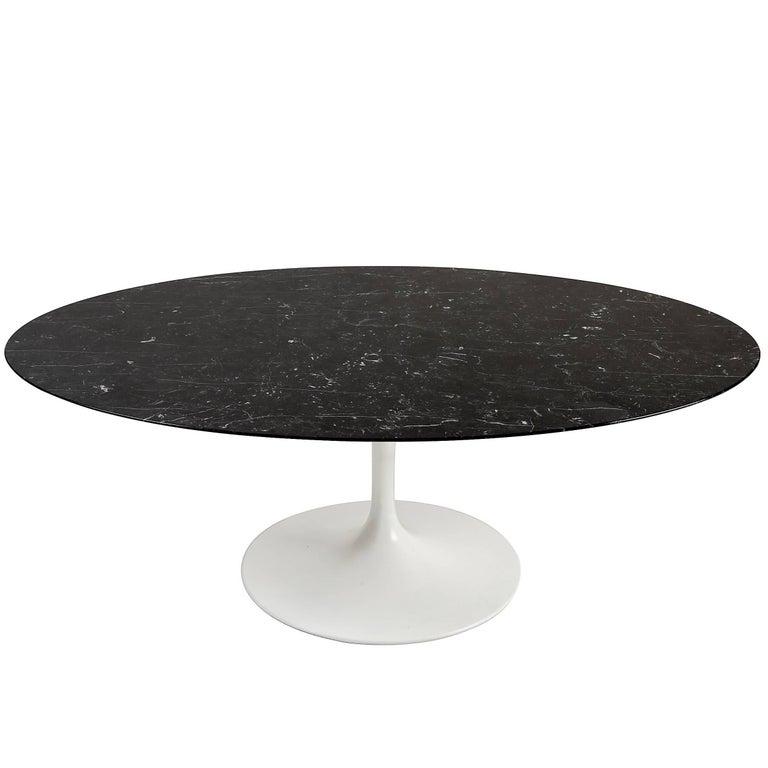 Eero Saarinen Nero Marble Oval Coffee Table for Knoll