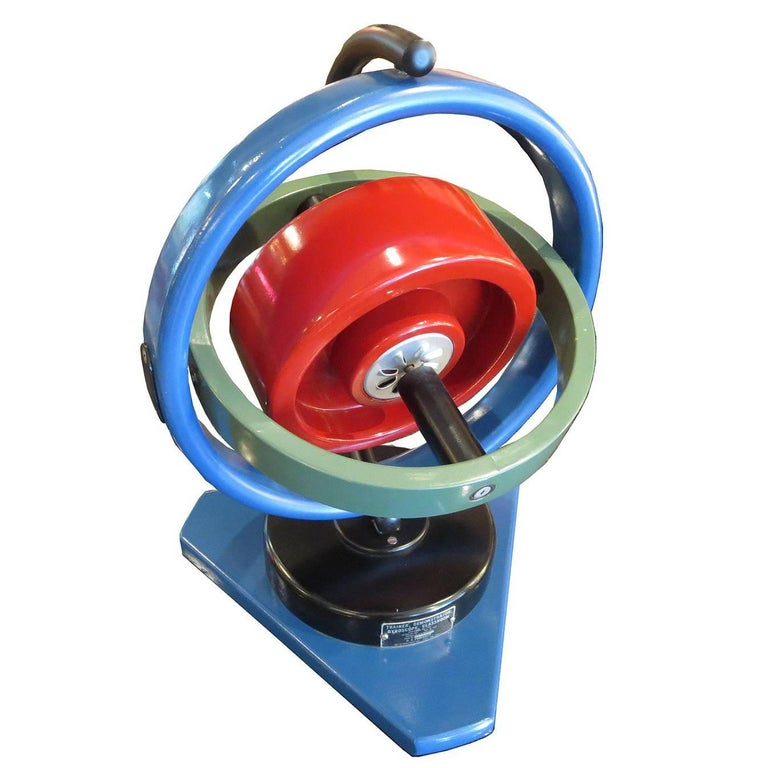 Painted Oversize Gyroscope Classroom Display Model For Sale