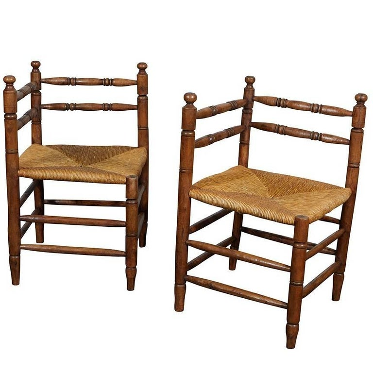 Pair of English Corner Chairs