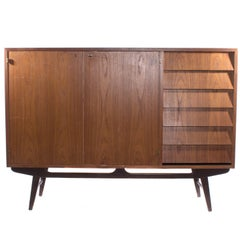 Teak Sideboard in Unique Design and Stunning Drawers from Sweden, 1950s
