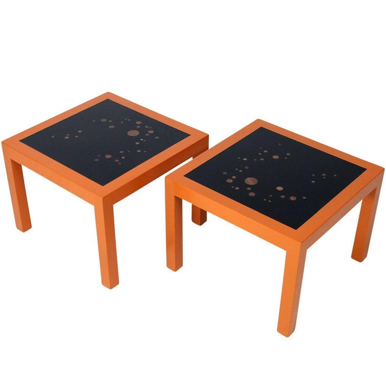 "Pair of Edward Wormley ""Constellation"" Side Tables for Dunbar For Sale"
