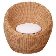 Isamu Kenmochi Rattan Lounge Chair