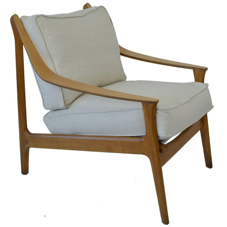 Midcentury Scandinavian Style Bent Ply and Beech Chair