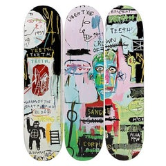 In Italian Skateboard Decks after Jean-Michel Basquiat