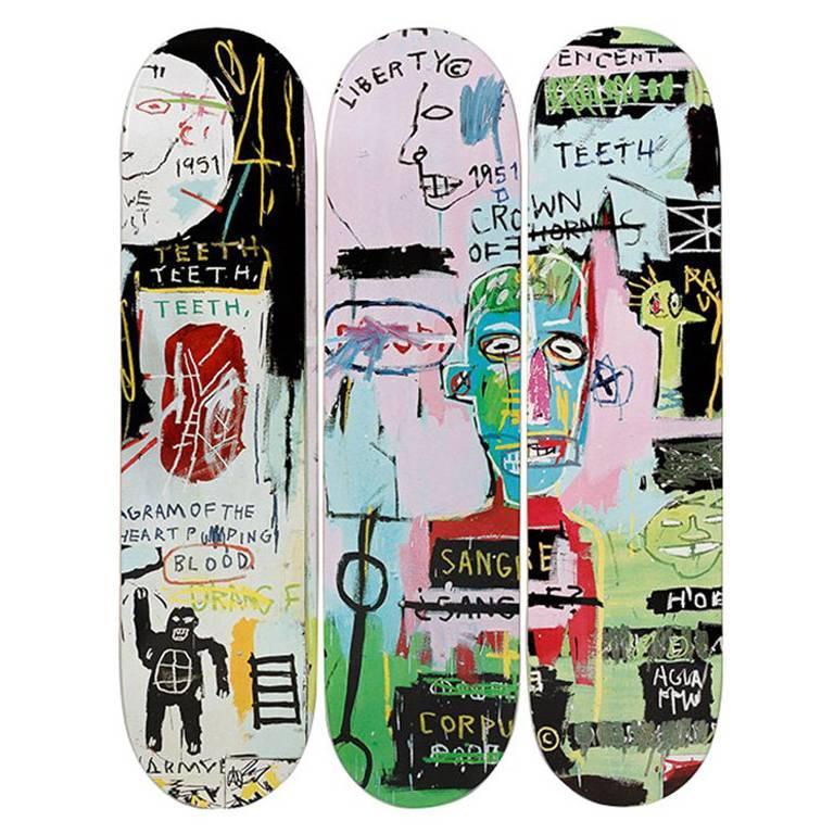 In Italian Skateboard Decks after Jean-Michel Basquiat