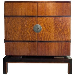 Swedish Art Deco Two-Door Cabinet with Mahogany and Macassar Ebony Veneer