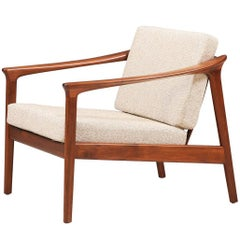 Folke Ohlsson Model 1073-C Walnut Lounge Chair for DUX