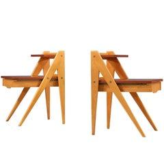 Rare Yngve Ekström Two-Tier Side Tables