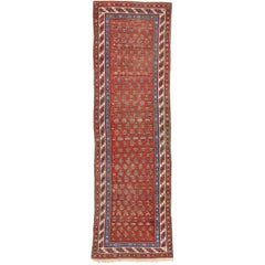 Antique Caucasian Shirvan Boteh Runner with Tribal Style, Hallway Runner
