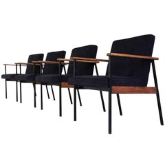 Mid-Century Modern Office Chairs Attributed to Paul McCobb, a Set of Four