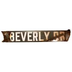 "1900s Beverly Hills ""Beverly Dr"" Sign"